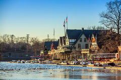 Boathouse Row Royalty Free Stock Photos