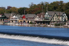 Boathouse Row in Philadelphia. One of the most famous landmarks in Philadelphia along the Schuylkill River Royalty Free Stock Photos