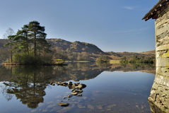Boathouse on Rydal Water Royalty Free Stock Photos