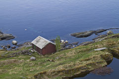 Boathouse at Salstraumen Royalty Free Stock Photos