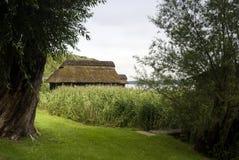 Boathouse at the Schaalsee Stock Photos