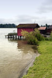 Boathouse at the Schaalsee Royalty Free Stock Photo