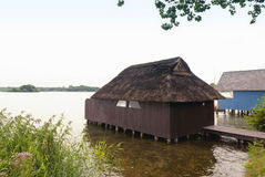 Boathouse at the Schaalsee Royalty Free Stock Images
