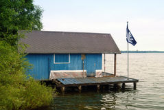 Boathouse at the Schaalsee Stock Image