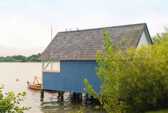 Boathouse at the Schaalsee Royalty Free Stock Photos