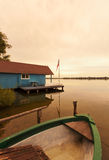Boathouse at Schaalsee lake, Mecklenburg Royalty Free Stock Photo