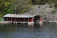 boathouse stary Obraz Royalty Free