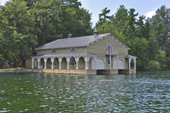 Boathouse in the Thousand Islands America Stock Photography
