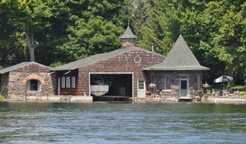Boathouse in the Thousand Islands America Stock Photos
