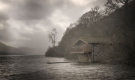 Boathouse, Ullswater Lake, England Stock Photos