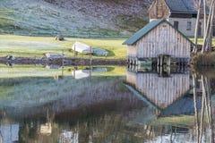 Boathouse w Feldberg Obrazy Royalty Free