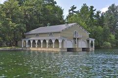 Boathouse w Tysiąc Wyspach Ameryka Fotografia Stock