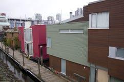 Boathouses στο νησί Granville Στοκ εικόνες με δικαίωμα ελεύθερης χρήσης