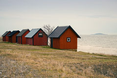 Boathouses Royalty Free Stock Images