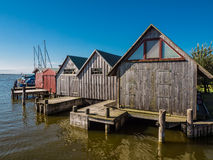 Boathouses Stock Images