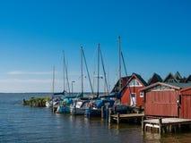 Boathouses Royalty Free Stock Photo