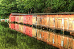 Boathouses Royalty Free Stock Photos