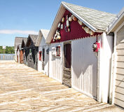 Boathouses Stock Photography