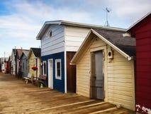 Boathouses on Canandaigua Lake Stock Photography