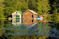 Boathouses em de New-Hampshire Foto de Stock