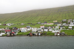 Boathouses Faroe Islands Royalty Free Stock Photos