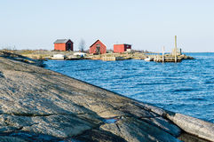 Boathouses and fishing camp Stock Image