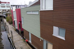 Boathouses at Granville Island Royalty Free Stock Photo