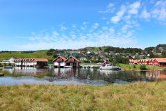Boathouses in Scandinavia Stock Photography