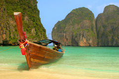 Boatin Lagune Stockbild