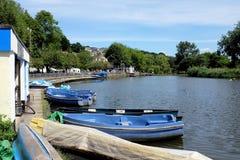 Boating湖, Newquay,康沃尔郡 库存照片