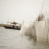 Boating in Africa stock photography