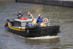 Boating in Amsterdam Royalty Free Stock Photos