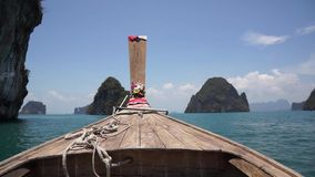 Boating on the Andaman Sea stock video