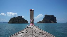 Boating on the Andaman Sea stock video footage