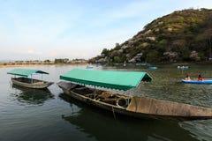 Boating in Arashiyama. This picture was taken in Arashiyama district in Kyoto Japan Stock Image