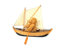 Boating bear Royalty Free Stock Images