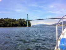 Boating on a beautiful summer day in Vancouver. royalty free stock photos