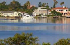Boating at Boca Ciega. A look across Boca Ciega Bay From the Observation Tower in Boca Ciega Millinum Park, Seminole FL Royalty Free Stock Photos