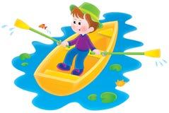 Boating boy Stock Photo