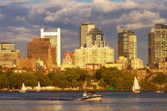 Boating on the Charles River Stock Photography