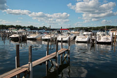Boating Club on Lake Minnetonka, Minnesota Stock Images