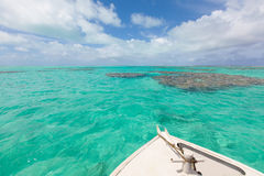 Boating at cook islands Stock Photos