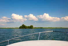 Boating Detroit River Royalty Free Stock Photography