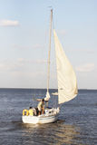 Boating. Family sailing into the Gulf Of Mexico from Kemah Texas Stock Image