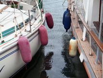 Boating Fenders. Like balloons, separate and protect boats Royalty Free Stock Photography
