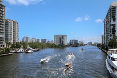 Boating in Fort Lauderdale, FL USA Royalty Free Stock Photo
