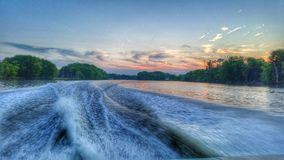 Boating. On the Fox River Royalty Free Stock Images