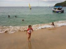 Boating fun in the windward islands Stock Photo