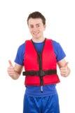 Boating guy Stock Image