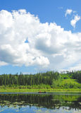 Boating on Hay Lake, NWT Royalty Free Stock Photography